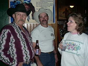Jim, Dusty, Virginia.  One of 'em owned a bar, one of 'em can dance, and the other.....?