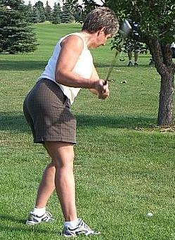 Put some tush into that swing.