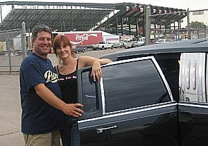 Rodeo grounds + limo = oxymoron.